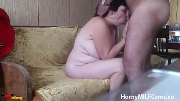 fledgling grannie deep-throating schlong and getting humped by.
