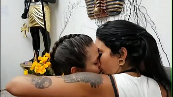 latina lezzies smooching