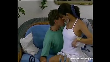 indian duo deepthroating and romping in lounge -.