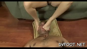 cute damsel gets out her handsome feet and.