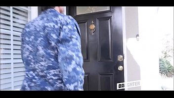 two military dads interchange nubile daughters-in-law
