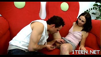 angel gives man a energetic cowgirl and doused blow-job