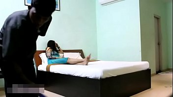 indian bhabhi in blue underwear taunting youthfull apartment.