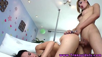 she-masculine t-girl transsexual providing oral hump to a.