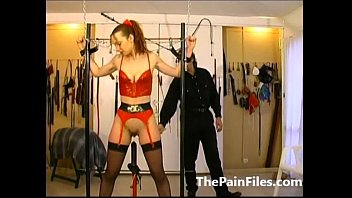 raunchy caning and victim hookup of bound up.