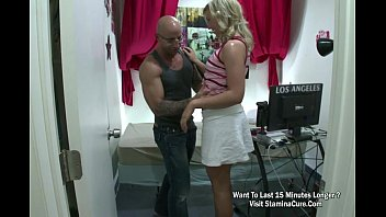 youthful ash-blonde female get a raunchy orgy and.
