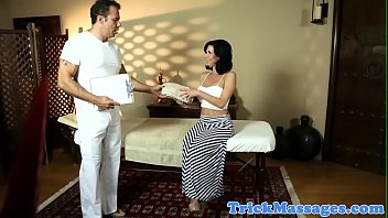 massive-chested cougar rectally drilled by massagist