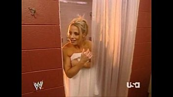 mickie james lets trish stratus know she has.