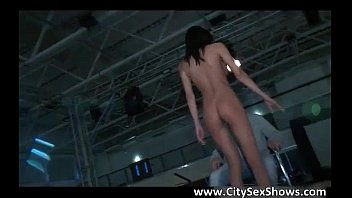 spectacular dark haired sweetie disrobing and.
