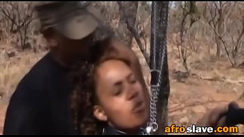 african victim gets obliged into blowing.
