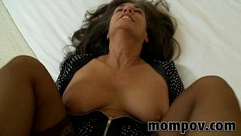 mature cougar gets ravaged in her.