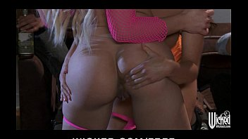 pair of trampy gfs sixty-nine at a bachelor soiree