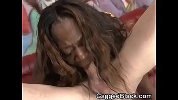 shameless dark-hued fledgling slum fuckslut gasping on a.