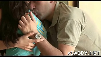 Slutty babe got specie to fuck an old lad all day long