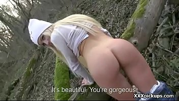 sweetheart euro nubile whore tempts tourist for public.