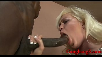 good-sized-boobed silver-blonde whitney arse-pummel interracial