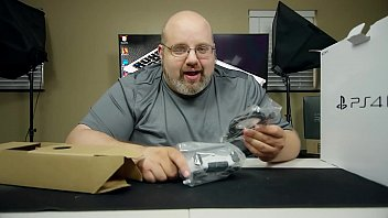 gigantic dude unboxing sumptuous playthings ten.