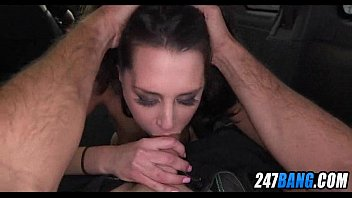 nice ebony-haired nubile pounded in car on street.