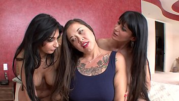 cougar and nubile honeys have steaming girl-girl 3some.