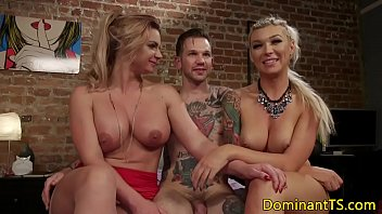 predominant transsexual assfucking cougar in threeway