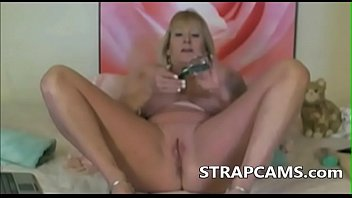 mature with good-sized silicone boobs on.