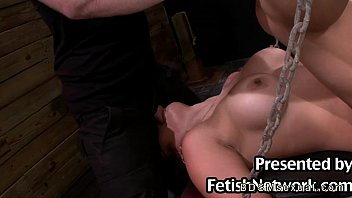 large-titted fettered japanese honey harshly gullet and puss plumbed