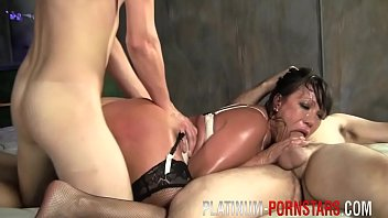 cougar ava devine demolished by two.