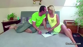 step-son-in-law lure steaming silver-blonde cougar step-mummy.