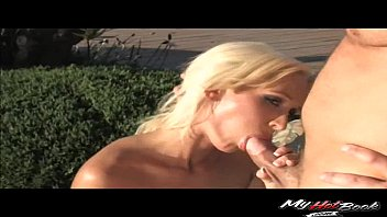 lichelle marie and tory lane engage in poolside.
