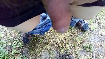 pissing in my garden