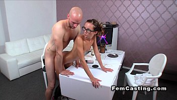slender well-lubed lady agent penetrated from.