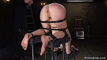 light-haired marionette with bum in the.