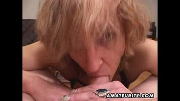 mature unexperienced wifey gives head with jizz in throat