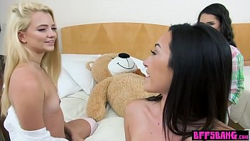 teenager besties deep-throated and railed on a life.