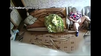 covert camera catches warm getting off