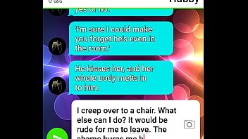 Cuckold husband roleplays his wife abused by BBC with sexting