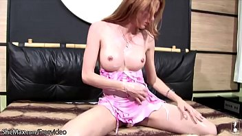 horny t-dame in pinkish sundress unveils and squashes.