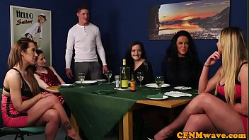 brit cfnm cougars abased lucky man
