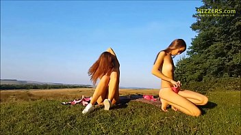 real unexperienced german sisters frolicking outdoor.