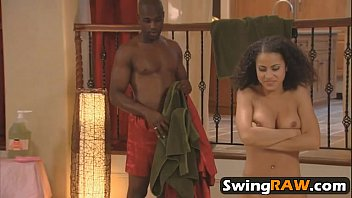 swinger soiree hookup group interracial faux-cock.