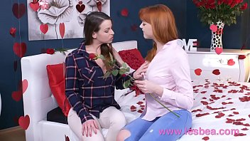lesbea german nubile ginger-haired valentine sixty nine and.