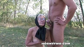 supah-naughty grandma humped outdoors badly in her fur.