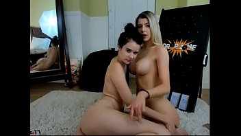 steaming lesbos strapon demonstrate part 2