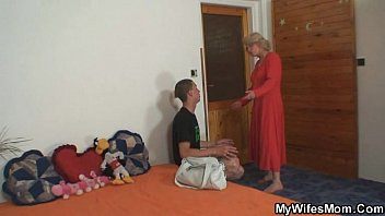 mom-in-law penetrates him and wifey comes.