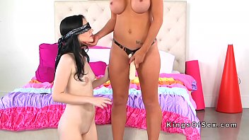 buxomy step-mother blindfolds and pulverizes nubile