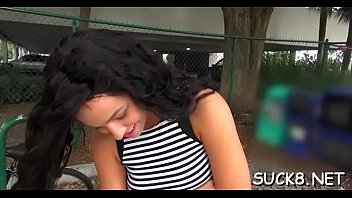skillful dude lures playgirl from the street to.