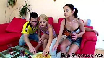 two euro couples banging at home