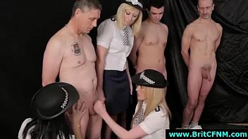 brit doll dominance cops give nude fellows cfnm.