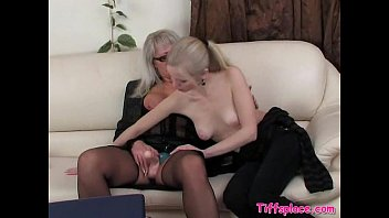 youthfull blondie rails aged lezzies strapon