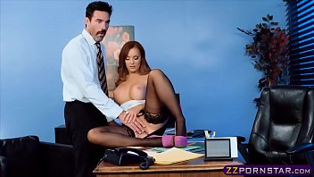 office dame in pantyhose and high-heeled footwear gets porked